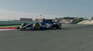El Sauber C36 rodando en Barcelona