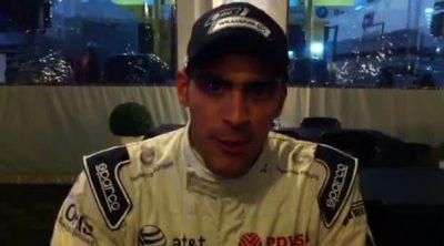 Pastor Maldonado envía un saludo a los lectores de 'F1 al día'