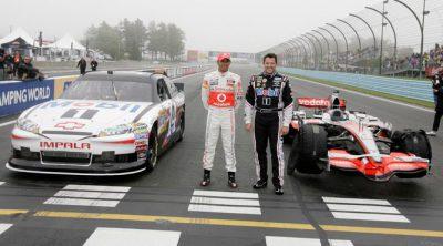 Hamilton y Stewart intercambiaron sus coches en Watkins Glen