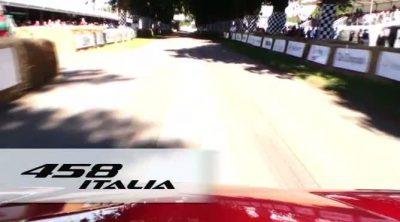 El Ferrari 458 Italia subió la colina en el Festival de la Velocidad 2011