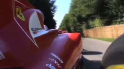 Gené sube a la colina de Goodwood a los mandos del Ferrari F10