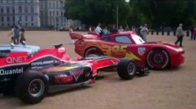 Virgin Racing presenta su decoración de 'Cars 2'