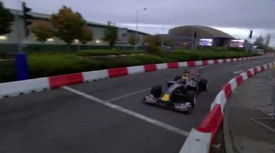 Mark Webber y Daniel Ricciardo en el Red Bull Speed Jam
