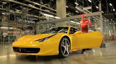 Fernando Alonso prueba el nuevo Ferrari 458 Spider
