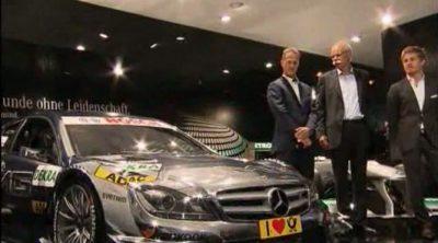 Michael Schumacher y Nico Rosberg en el Salón del Automóvil de Frankfurt