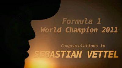 Entrevista a Sebastian Vettel tras lograr su segundo título de Campeón del Mundo de F1