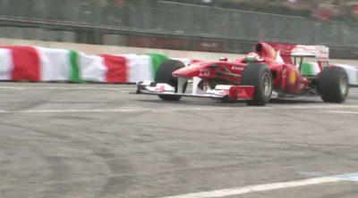 Giancarlo Fisichella en el Motorshow de Bolonia 2011