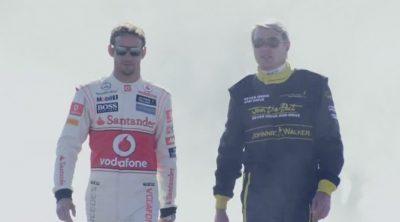 "Jenson Button y Mika Häkkinen ""firman"" sobre el asfalto"