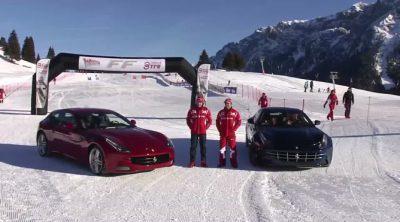 """Alonso y Massa """"esquian"""" con dos Ferrari FF"""