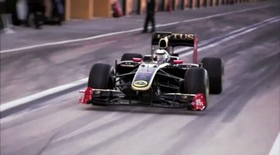 Kimi Räikkönen rueda en Cheste con el Lotus R30