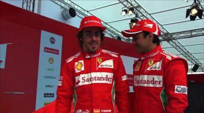 Así descubrieron Fernando Alonso y Felipe Massa el Ferrari F2012
