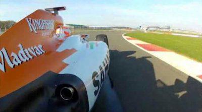Primeras vueltas del Force India VJM05 en Silverstone