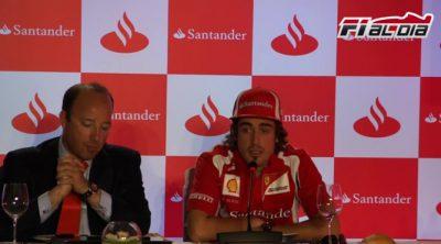 Rueda de prensa de Fernando Alonso en el Jarama