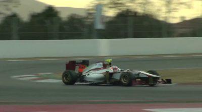 El HRT F112 rueda en el Circuit de Catalunya
