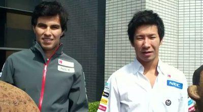 Sergio Pérez y Kamui Kobayashi hablan sobre el GP de China 2012