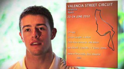 Paul di Resta analiza el circuito de Valencia