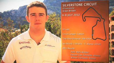 Paul di Resta analiza el circuito de Silverstone
