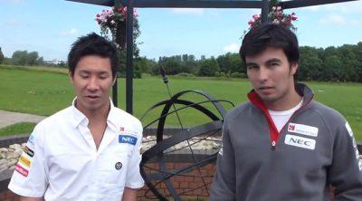 Sergio Pérez y Kamui Kobayashi hablan sobre el GP de Gran Bretaña 2012