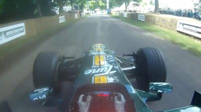 Una vuelta 'onboad' con Heikki Kovalainen en el Festival de Goodwood