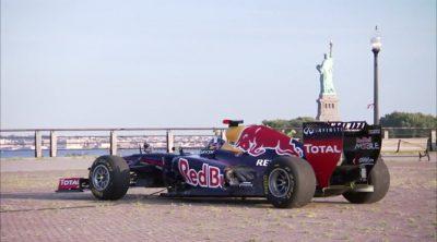 Exhibición de Red Bull y David Coulthard en Nueva York y Nueva Jersey