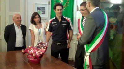 Bruno Senna recoge el Trofeo Lorenzo Bandini