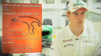 Nico Hülkenberg analiza el circuito de Spa-Francorchamps