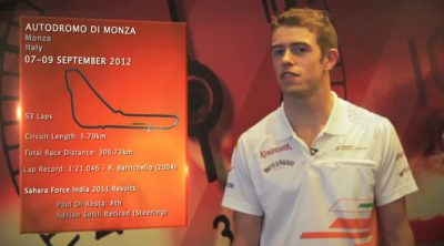 Paul di Resta analiza el circuito de Monza