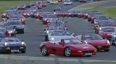 Ferrari bate en Silverstone el récord de coches en pista