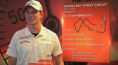 Nico Hülkenberg analiza el circuito de Marina Bay