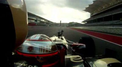 Primera vuelta con un Fórmula 1 al Circuito de las Américas