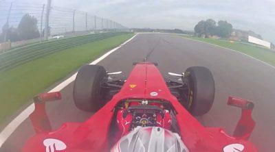 Dani Juncadella al volante del Ferrari F60 en Vallelunga