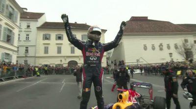 Exhibición del tricampeón Sebastian Vettel en Graz