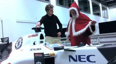 Nico Hülkenberg conoce a Papá Noel en Sauber