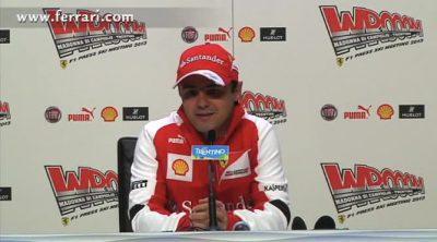 Rueda de prensa de Felipe Massa en el 'Wrooom 2013'