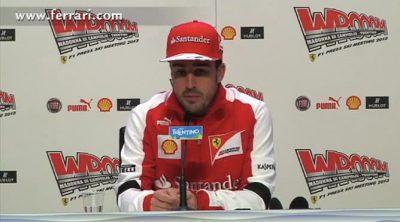 Rueda de prensa de Fernando Alonso en el 'Wrooom 2013'